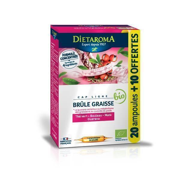 Dietaroma - Cap Ligne brûle-graisse ampoules 20+10 offertes