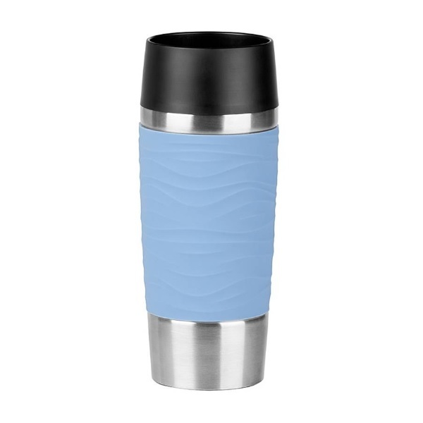 Emsa - Mug isotherme Travel Mug Waves Bleu pastel 36cl