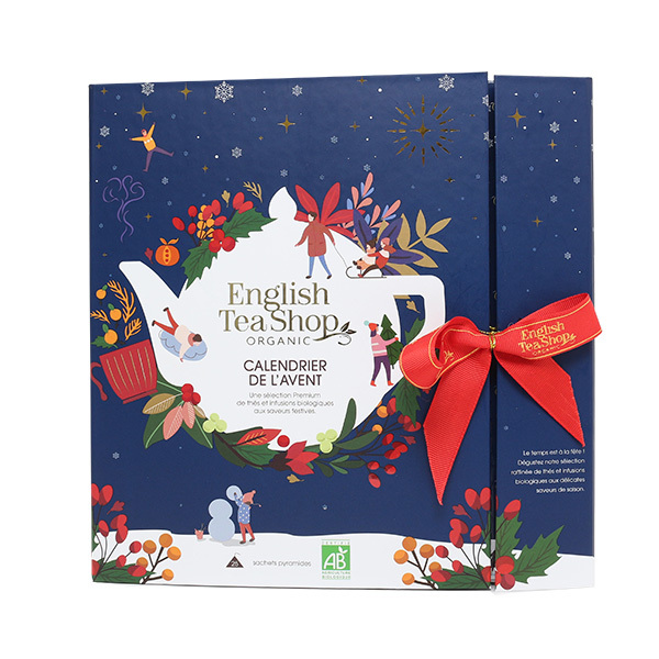 English Tea Shop - Calendrier de l'Avent bleu thés & infusions 13 mélanges