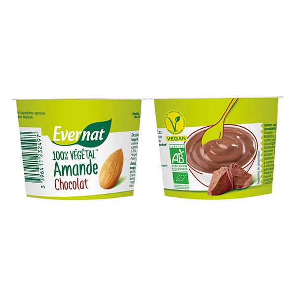 Evernat - Dessert 100% végétal Amande Chocolat 2X100g