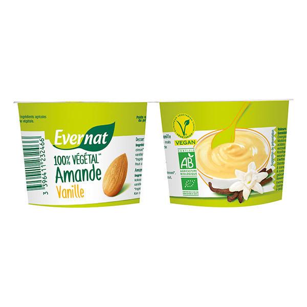 Evernat - Dessert 100% végétal Amande Vanille 2X100g