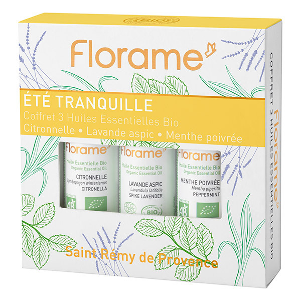 Florame - Coffret huiles essentielles Été Tranquille 3X10ml