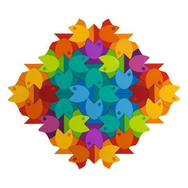 Haba - Mandala puzzle poisson - Dès 3 ans