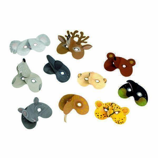 Haba - 20 Masques à créer animaux sauvages - Dès 3 ans
