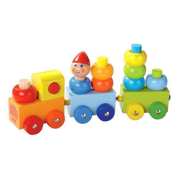 Haba - Train découverte Ronds multicolores - Dès 12 mois