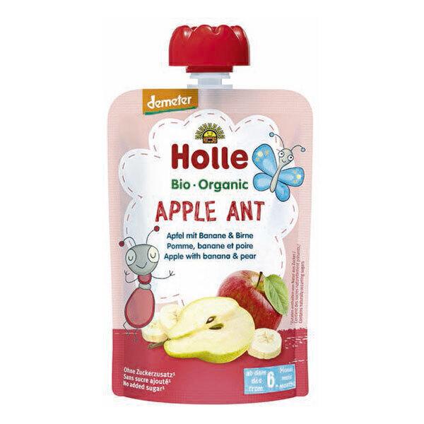 Holle - Gourde Apple Ant pomme banane poire 100g