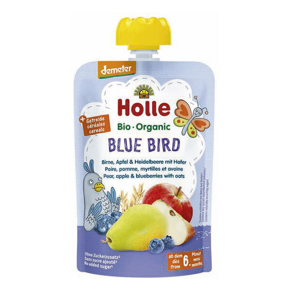 Holle - Gourde Blue Bird poire pomme myrtille avoine 100g