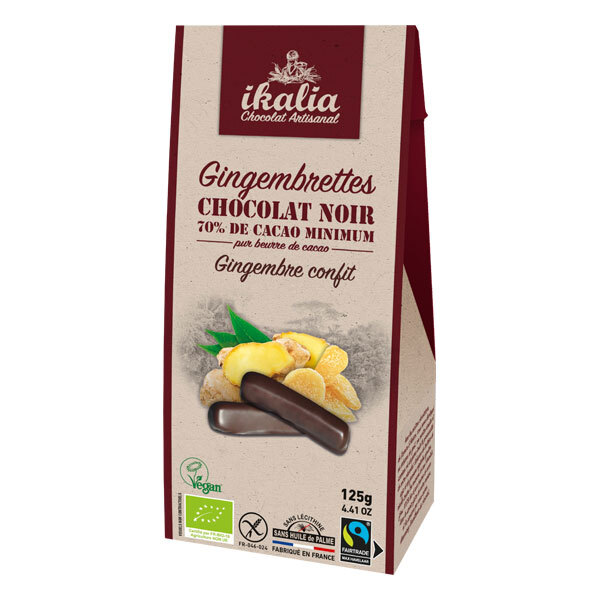 Ikalia - Gingembrettes au chocolat noir 125g