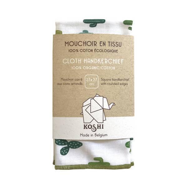 Koshi - Mouchoir en coton Cactus 27 x 27cm
