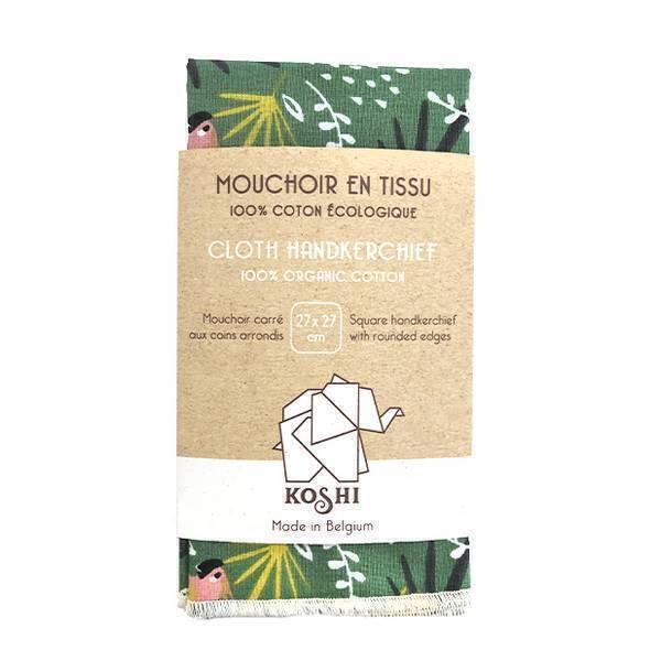 Koshi - Mouchoir en coton Jungle 27 x 27cm