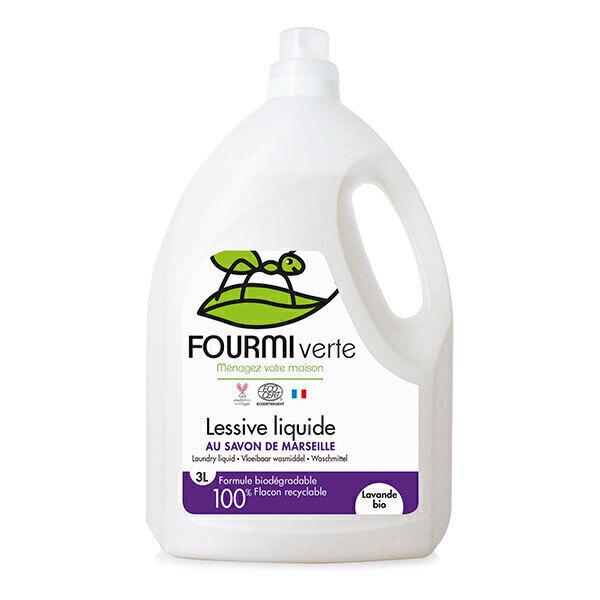La Fourmi Verte - Lessive liquide savon de Marseille et Lavande 3L