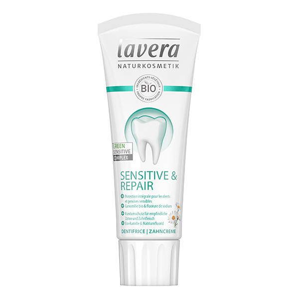 Lavera - Dentifrice dents sensibles à la camomille et fluorure 75ml