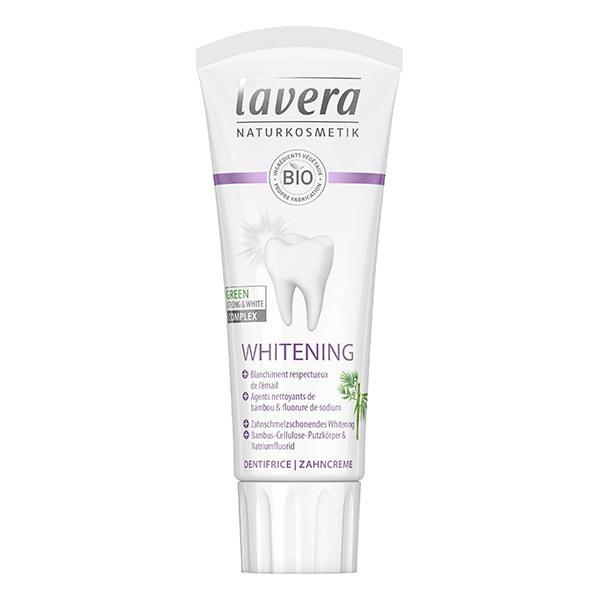 Lavera - Dentifrice blancheur au bambou et fluorure 75ml