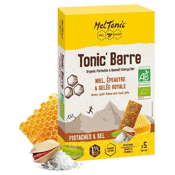 Meltonic - Pack Tonic' Barre Miel et Pistaches salées 5 x 25g