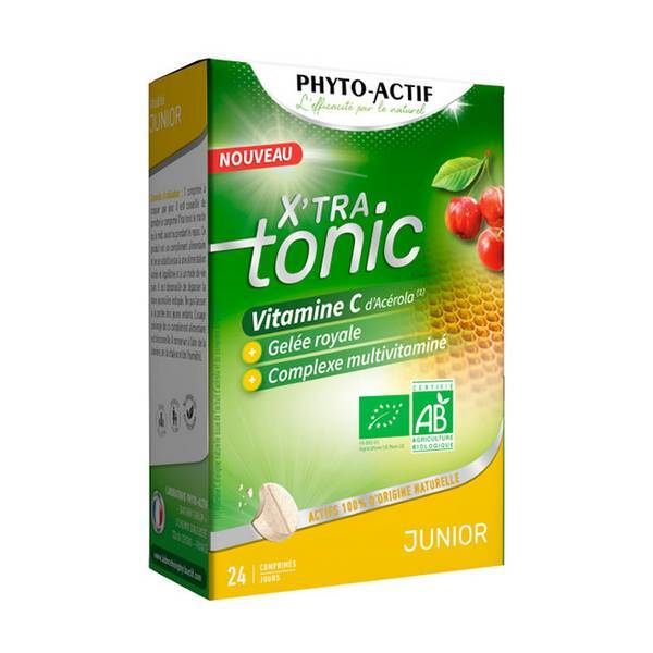 Phyto-Actif - X'tra tonic junior - 24 comprimés