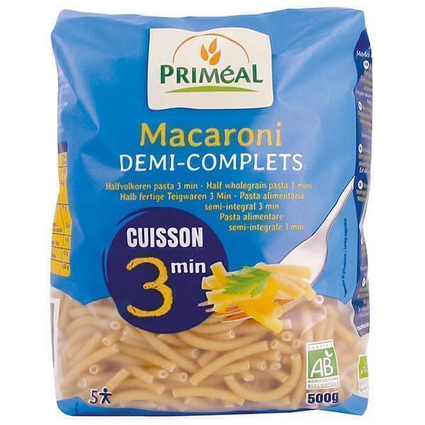 Priméal - Macaroni demi-complets cuisson rapide 500g