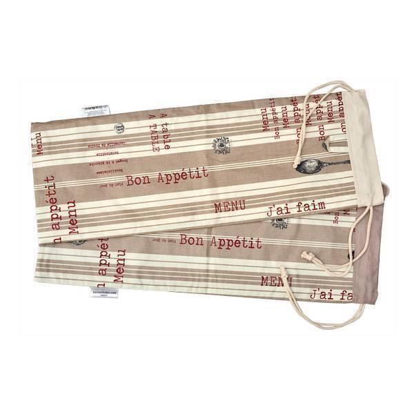 Sacasalades - Sac à pain de transport A table 63 x 24cm
