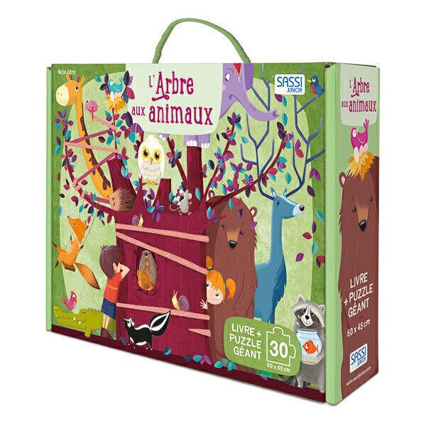 SASSI Junior - Puzzle Géant L'arbre aux animaux - Dès 3 ans