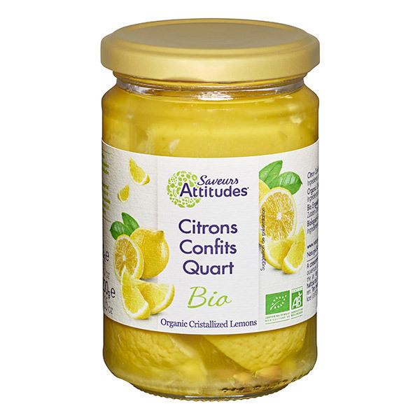 Saveurs Attitudes - Citrons confits en quarts 300g