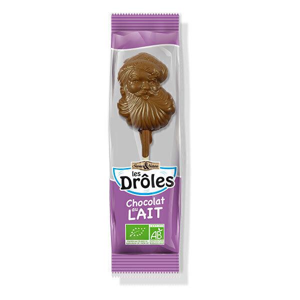 Saveurs & Nature - Sucette Père Noël au chocolat au lait 10g