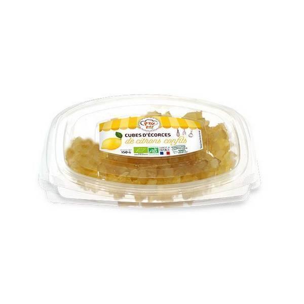Senfas - Ecorces de citrons confits en cubes 150g