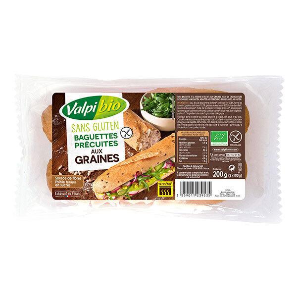 Valpibio - Baguettes précuites aux graines sans gluten 2X100g