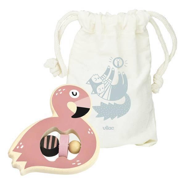 Vilac - Hochet Flamingo Michelle Carlslund - Dès 1 an