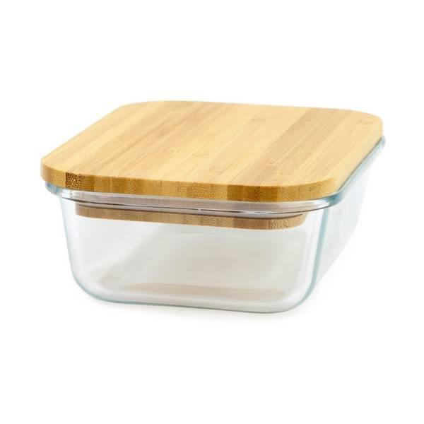 Yoko Design - Boîte en verre couvercle bambou 1,4L