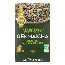 Aromandise - Thé vert Genmaicha x18 infusettes