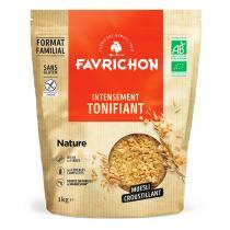 Favrichon - Muesli croustillant nature sans gluten 1kg