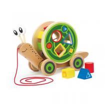 Hape - Escargot roulant avec jeu de formes - Dès 12 mois