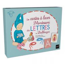 Hatier Jeunesse - Les cartes à lacer Montessori des lettres de Balthazar - dès 3 ans
