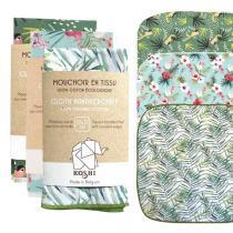 Koshi - Lot de 3 petits mouchoirs en coton assortis 27 x 27cm