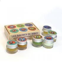 Les Baumes du Hibou - Coffret 6 mini baumes aux huiles essentielles 6X7ml