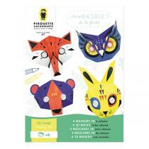 Pirouette cacahouete - Kit créatif masques Animaux de la Forêt - Dès 6 ans