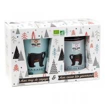 Quai Sud - Coffret cacao Miel 250g + mug de voyage