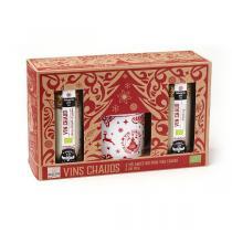 Quai Sud - Coffret vin chaud 2 mélanges pomme et cranberry + un mug