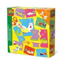 SES Creative - Puzzle d'animaux pour apprendre à découper - Dès 3 ans