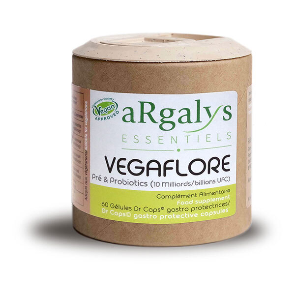 Argalys Essentiels - Vegaflore aux ferments lactiques - 60 gélules