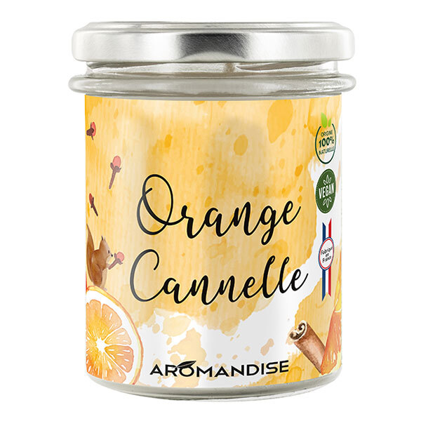 Aromandise - Bougie Orange Cannelle 150g