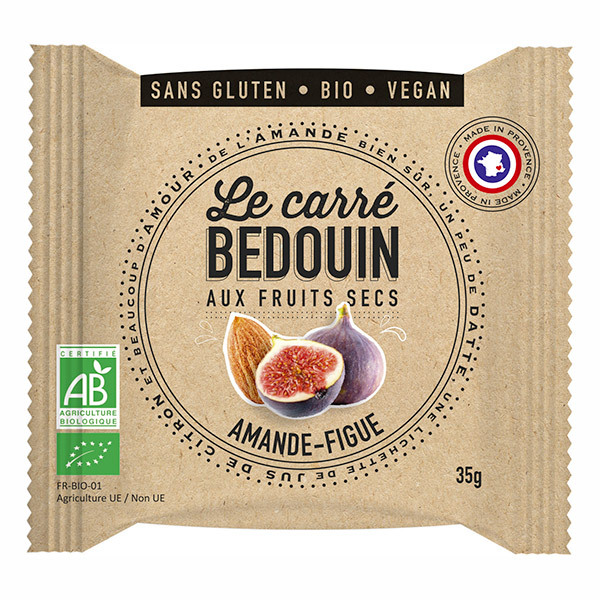 Bedouin - Carré aux fruits secs Amande & Figue 35g