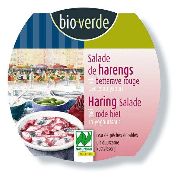 Bio Verde - Salade de harengs betterave rouge & sauce yaourt 150g