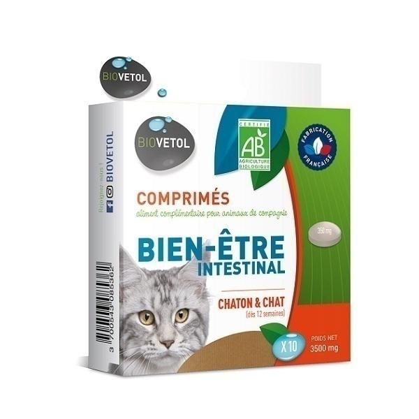 Biovetol - Etui 10 comprimés Bien-être intestinal chaton et chat Bio