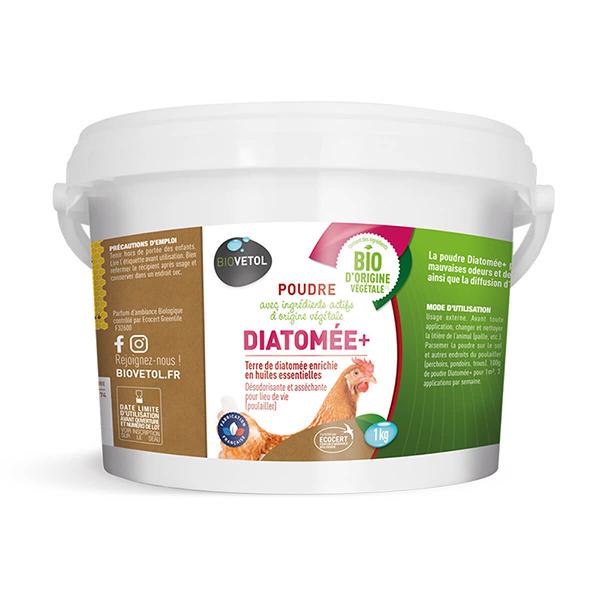Biovetol - Poudre Diatomée+ bio pour poulailler 1kg