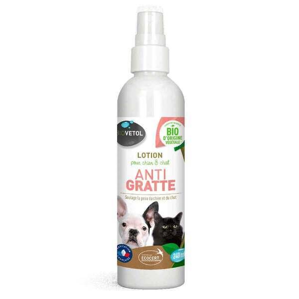Biovetol - Shampooing anti-gratte chien et chat Bio 240ml