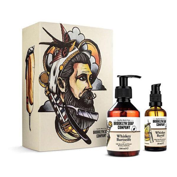 "Brooklyn Soap Company - Coffret de soins pour la barbe ""Whisky"""