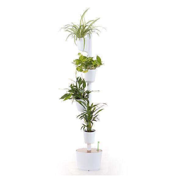 Citysens - Jardin d'intérieur arrosage auto 4 plantes Blanc