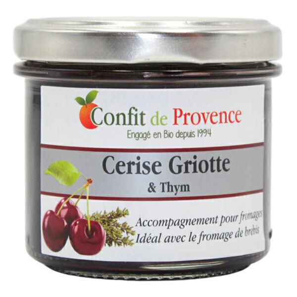 Confit de Provence - Accompagnement fromage spécial Brebis Cerise Griotte Thym 125g