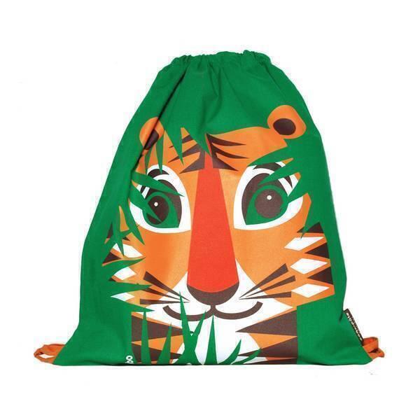 Coq En Pâte - Sac à coulisse coton bio Tigre vert