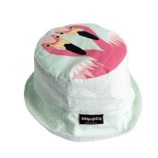 Coq En Pâte - Bob enfant coton bio Flamant rose Taille L